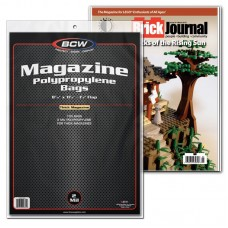 Pack of 100 BCW Clear Archival Magazine Poly Bags - Thick - 8 7/8 x 11